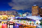 foto of singapore night  - Singapore night at night - JPG