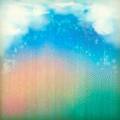 Colorful Rain. Vintage Abstract Retro Background
