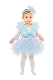 foto of matinee  - Adorable little girl wearing snowflake costume - JPG