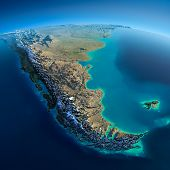 picture of falklands  - Highly detailed planet Earth in the morning - JPG