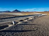 Gravel Road On Altiplano