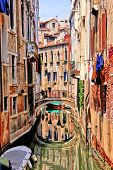 pic of quaint  - Quaint canal in Venice with reflection - JPG