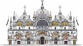 Venice San Marco square, Venice illustration sketch collection