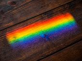 Refraction effect on the wooden floor