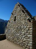 Stone Gable At Ruins Of Machu Picchu