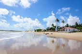 stock photo of rn  - Beach with sand dunes and house Pititinga Natal  - JPG