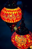 Islam and arabic lantern lamp at souk in Muscat