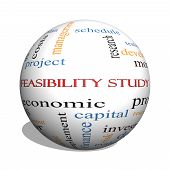 Feasibility Study 3D Sphere Word Cloud Concept