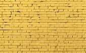 Yellow Brick Wall Pattern Background Photo Texture