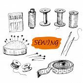 Sewing. Set of illustrations