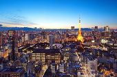 okyo city and tokyo tower