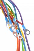 Electric colored wires with terminals