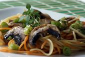 Colored Spaghetti With Organic Mushroom And Vegetable poster