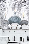 picture of uglich  - White church in winter in Uglich in Russia