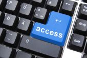 Blue Access Button
