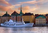 Gamla stan waterfront in Stockholm.