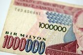 stock photo of lira  - a one million turkish lira bill from Turkey