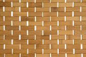 Woven Bamboo Mat Background Texture