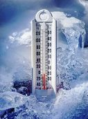 Ice cold thermometer