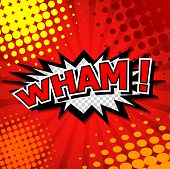 Wham! Comic Speech Bubble, Cartoon