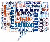 stock photo of dialect  - Hello in different languages - JPG