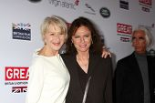 LOS ANGELES - FEB 28:  Helen Mirren, Jacqueline Bisset at the 2014 GREAT British Oscar Reception at