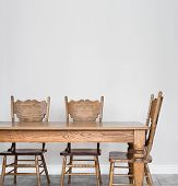 Wooden Dining Room Table And Chair Details