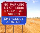 No Parking Sign for an Emergency Airstrip