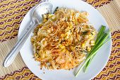 picture of egg noodles  - Thai food Pad thai Thai style noodles - JPG
