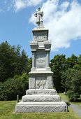 Civil War Memorial in historic Bar Harbor, Maine