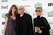 LOS ANGELES - MAR 1:  Laura Dern, Bruce Dern, Andrea Beckett at the Film Independent Spirit Awards a