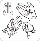 pic of crucifixion  - Hands and crosses - JPG