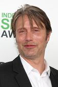 LOS ANGELES - MAR 1:  Mads Mikkelsen at the Film Independent Spirit Awards at Tent on the Beach on March 1, 2014 in Santa Monica, CA