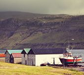 stock photo of faroe islands  - Vintage style of Faroe islands - JPG