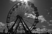 Black and White Ferris Wheel