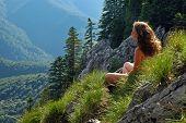 Woman Admiring The Landscape