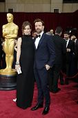 LOS ANGELES - MAR 2:  Olivia Wilde, Jason Sudeikis at the 86th Academy Awards at Dolby Theater, Holl