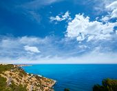 Ibiza Es Cubells Mediterranean view in san Jose at Balearic Islands of spain