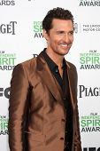 LOS ANGELES - MAR 1:  Matthew McConaughey at the Film Independent Spirit Awards at Tent on the Beach