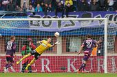 VIENNA,  AUSTRIA - MAY 30 Heinz Lindner (#13 Austria) deflects the ball during the Austrian cup fina