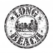 Long Beach California stamp