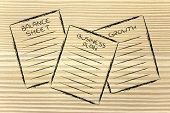Business Documents: Balance Sheet, Business Plan, Growth