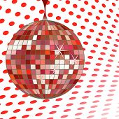 Discoball Red poster