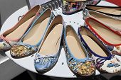 Women's Summer Shoes On Round Shelf