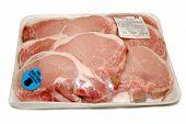 Packaged 100% Pure Bone-in Pork Chops