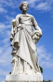 picture of comedy  - La Comedie statue in the beautiful Jardin des Tuileries in Paris France - JPG