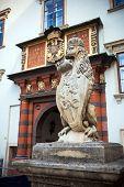 Vienna, Austria - August 4, 2013: Lion Statue At The Royal Palace Hofburg, Vienna