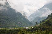 Village At Himalayan Mountain