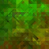 art abstract colorful geometric seamless pattern; background in gold, black and green colors