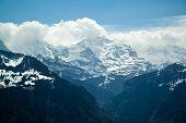 Alpine Alps Mountain Landscape, Top Of Europe, Switzerland